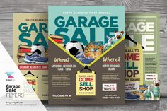 Garage Sale Flyer Templates A flyer template set perfect for promoting Garage Sale or Yard Sale event. Available in three design variation and in two print Business Brochure, Business Card Logo, Christmas Craft Fair, Christmas Flyer, Site Website, Garage, Sale Flyer, Sale Promotion, Craft Fairs