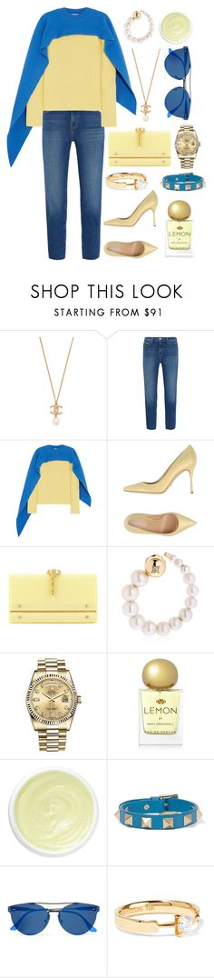 """""""Don't let your happiness depend on something you may lose."""" by theodor44444 ❤ liked on Polyvore featuring L'Agence, J.W. Anderson, Sergio Rossi, Valentino, Yvonne Léon, Rolex, Mary Greenwell, Eve Lom, RetroSuperFuture and Ana Khouri"""