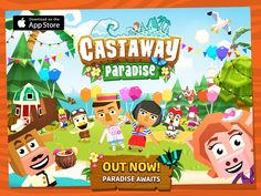 Castaway Paradise! Great game for family on mobile. Sort of an Animal Crossing look a like, but done really nice!