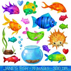 tropical fish clip art for | Under the sea crafts | Pinterest ...