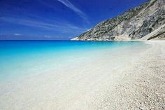 Myrtos Beach is in the region of Pylaros, in the north-west of Kefalonia island, in the Ionian Sea of Greece