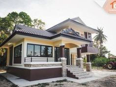 Modern Bungalow House Design With Three Bedrooms - Ulric Home Single Storey House Plans, One Storey House, 2 Storey House Design, Modern Bungalow House Design, Simple House Design, Bungalow Designs, Two Story House Design, Village House Design, Garage Boden