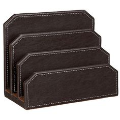 Buy John Lewis Faux Leather Letter Holder, Brown from our Desk Storage & Desk Accessories range at John Lewis & Partners. Working Mom Tips, Desk Pad, Letter Holder, Office Essentials, Desk Accessories, School Accessories, Desk Storage, Homemaking, John Lewis