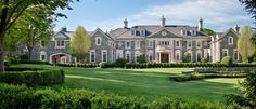 """The """"Stone Mansion"""" in Alpine, New Jersey. The grand entry at the Frick Estate, a new stone mansion in Alpine, N. Stone Mansion, Dream Mansion, Luxury Apartments, Luxury Homes, Las Vegas, How Many Kids, Expensive Houses, Celebrity Houses, Maine House"""