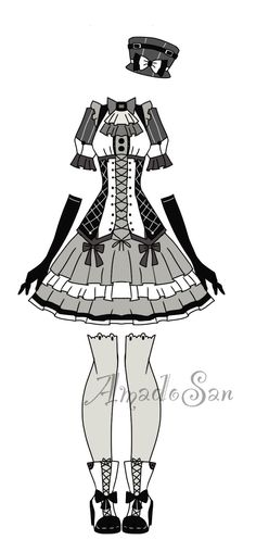 Monocrhomatic adoptable outfit closed by AS-Adoptables.deviantart.com on @DeviantArt