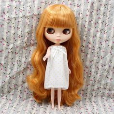 """12/"""" Neo Blythe Doll Nude Jointed Body Super Black Skin Glossy Face Short Hair"""