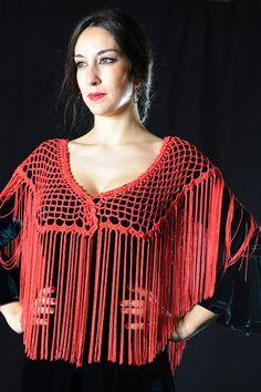 Mantoncillo Abanico Crochet Woman, Knit Crochet, Crochet Fashion, Crochet Clothes, Shawl, Free Pattern, Women Wear, Knitting, Sewing