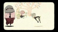 """The bench / le banc , de Kitty Crowther & Bruno Salamone by Bruno SalAmone. """"Le banc"""" film d'animation réalisé , dessiné et animé par Kitty Crowther et Bruno SalAmone musique de Sissi Lewis, dans le cadre de l'exposition """"Aller Retour"""" rencontres graphiques franco belges"""