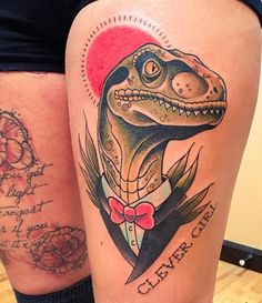 20 of the Best Dinosaur Tattoos: Velociraptor Edition – BONEYARD pets                                                                                                                                                                                 More