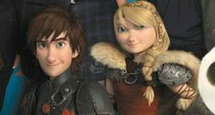 Hiccup and Astrid / How to Train Your Dragon 2