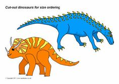 Cut-out dinosaurs for size ordering (SB4053) - SparkleBox