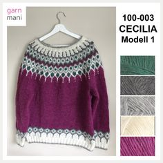 Cecilia is knitted in Lettlopi - designed by Tove Richter for Garnmani, the pattern or knitting kit for sale at www.no in norwegian or english. Jennifer Lee, Baby Sandals, Garter Stitch, Royals, Ravelry, Ankle Strap, Pullover, Knitting, Crochet