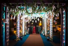Lovely white and wood indoor wedding decoration project by padma delhi ncr weddings junglespirit Images