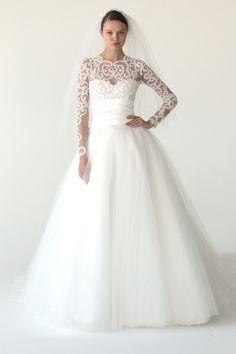 Marchesa long sleeve wedding dress // 2012 fall bridal collecyion
