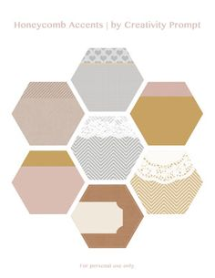 Freebie – Honeycomb Accents 01