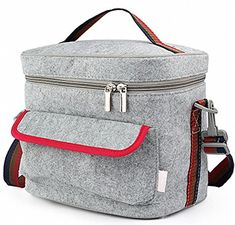 VesipaFly Lunch Bags, Reusable Insulated Lunch Box Cooler Bag, Portable Thermal Tote Bag, Picnic Bags Boxes with Zipper Closure for Men Women Adults Kids, Grey. For product & price info go to:  https://all4hiking.com/products/vesipafly-lunch-bags-reusable-insulated-lunch-box-cooler-bag-portable-thermal-tote-bag-picnic-bags-boxes-with-zipper-closure-for-men-women-adults-kids-grey/