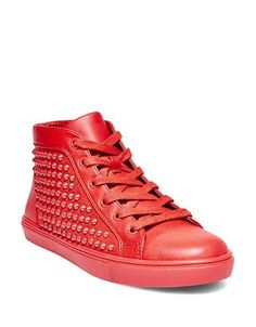 Steve Madden Levels High-Top Sneakers Women's Red 7