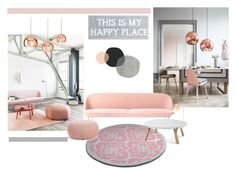 """""""rose"""" by pamela-802 ❤ liked on Polyvore featuring interior, interiors, interior design, home, home decor, interior decorating, Arper, Pier 1 Imports, Shiraleah and rosegold"""