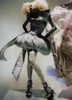 'Unbelievable Fashion': Lily Donaldson in Alexander McQueen Spring Summer 2005; photographed by Nick Knight for Vogue UK, December 2008