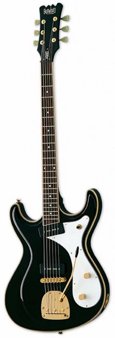 Eastwood Sidejack Baritone DLX Guitar (Black)