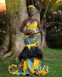 50 Gorgeous Ankara Gown Styles for Ladies – Ankara Styles Pictures Trends] - photo Ankara Long Gown Styles, Trendy Ankara Styles, Ankara Gowns, Latest African Fashion Dresses, African Print Fashion, Africa Fashion, African Prints, Ankara Fashion, Fashion Outfits