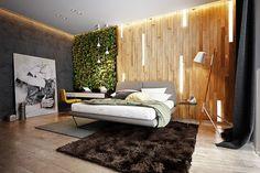 panneau décoratif mural -bois-3d-retroeclaire-mur-jardin-vertical