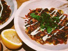 Kasvispihvi/munakastyyppinen iltapalaratkaisu Okonomiyaki