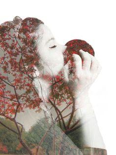 Friends missing her lover's smell ♥♡♥#truelove #love #DoubleExposure #Miss #Tree #Effect