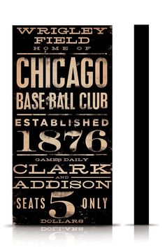 Wrigley Field Chicago Cubs Baseball vintage style by geministudio