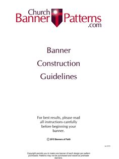 Banner Construction Guidelines