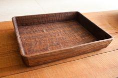 Ryuji Mitani, hand gouged one piece walnut tray