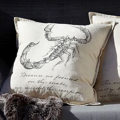 Penny Dreadful Scorpion Pillow Cover
