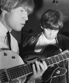 Brian and Keith Richards. London, 1962. Brian Jones. Lewis Brian Hopkin Jones [28 February 1942 ― 3 July 1969] ♡ #BrianJOnes #IanStewart #KeithRichards #MickJagger #CharlieWatts #27Club #StonesIsm #Art