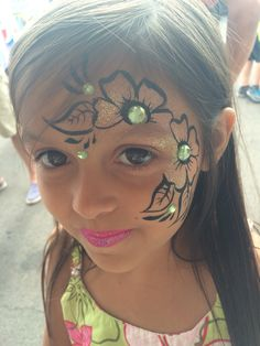 Mustache Face Painting