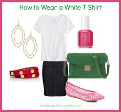 Wear a White T-Shirt simple outfit with COLORS