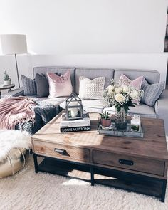Couch with Chaise Lounge Living Room Inspo
