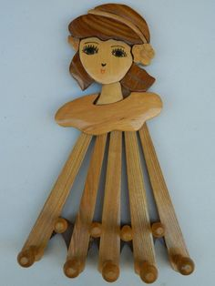 Cute Vintage Expandable wooden Clothes Rack by QuirkyCrowsVintage, $22.00