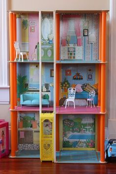 My 1980's Barbie dreamhouse.  I loved the elevator!|| mine was like this
