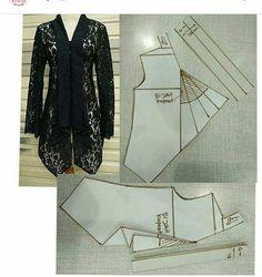 Amazing Sewing Patterns Clone Your Clothes Ideas. Enchanting Sewing Patterns Clone Your Clothes Ideas. Kebaya Muslim, Kebaya Hijab, Kebaya Brokat, Batik Kebaya, Pola Kebaya Kutubaru, Dress Sewing Patterns, Blouse Patterns, Clothing Patterns, Model Kebaya