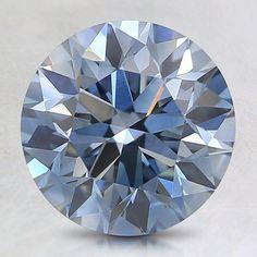 Loose Lab Created Fancy Blue Round Diamond - 1.49 ct.