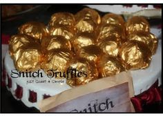 just Sweet and Simple: Harry Potter Golden Snitch Truffles