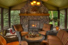 fireplace for porch   Phenomenal Fireplace Screens decorating ideas for Delightful Porch ...