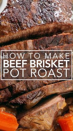 Beef Brisket Pot Roast Beef Brisket cooked as a pot roast couldn't be easier. Just sear and then cook it in the oven with onions and garlic all afternoon until it becomes fall-apart tender. The leftovers freeze beautifully, too! Oven Roast Beef, Roast Brisket, Pot Roast, Cooking Brisket In Oven, Oven Roasted Brisket, Oven Cooked Brisket, Beef Tenderloin, Beef Brisket Recipes Crockpot, Roast Recipes