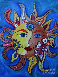 moon+celestial+art+|+Celestial+Sun+And+Moon+Painting