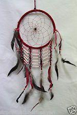 Large Native American Dream Catchers | LARGE DREAM CATCHER NATIVE AMERICAN SUEDE 60 CM LENGTH 16 CM WEB W ...