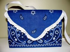 Recycled Purse DIY...made from a cereal box and a bandanna!