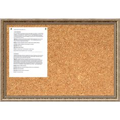 this cork message board features an elegant champagne gold frame distinguished by a fluted - Job Application Cover Letter Free Sample