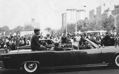This is a photo taken in 1962 of President Kennedy's motorcade. This photo was taken on 161st Street, just west of the Grand Concourse ~ Bronx, NYC