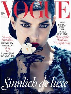 Vogue Deutsch October 2012 - Kati Nescher (Photographed by Camilla Akrans) V Magazine, Vogue Magazine Covers, Fashion Magazine Cover, Fashion Cover, Vogue Covers, Women's Fashion, Édito Vogue, Vogue Korea, Vogue Japan