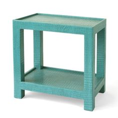 Tailored Side Table in Turquoise
